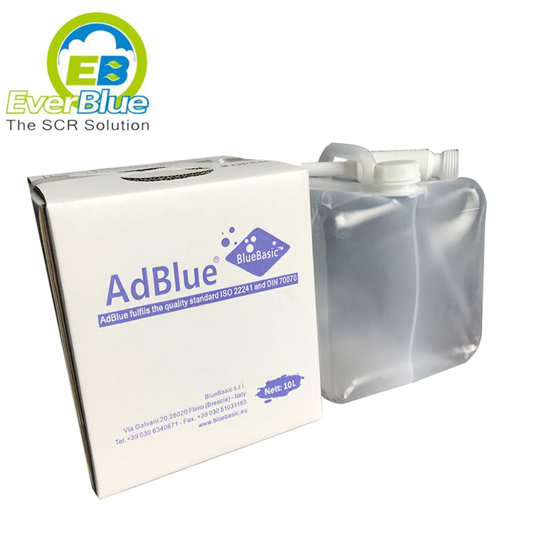 Liquid bag with carton packing 10 Liter AdBlue Diesel exhaust fluid to reduce emission